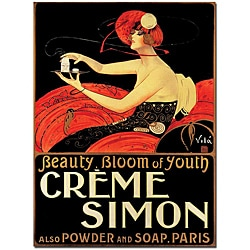 Emilio Vila 'Creme Simon' Small Canvas Poster