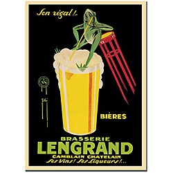G. Piana 'Bieres Brasserie Lengrand' Canvas Poster