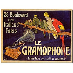 'Le Gramaphone' Canvas Art
