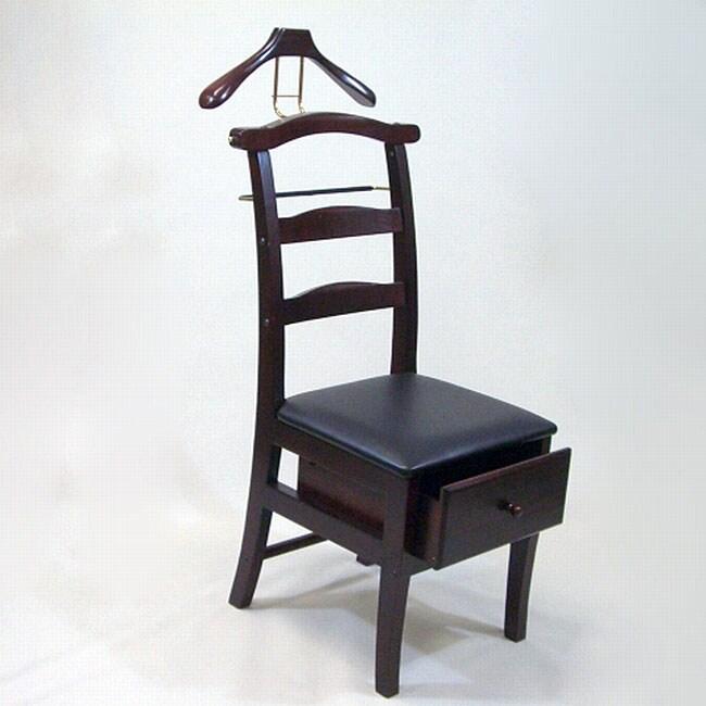 Manchester Mahogany Finish Chair Valet