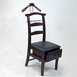 Manchester Mahogany Finish Chair Valet