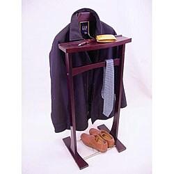 Ashton Mahogany Finish Storage Tray Wardrobe Valet
