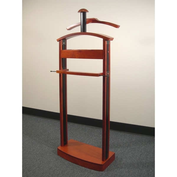 Cherry/ Black Wood Trojan Valet VL16185