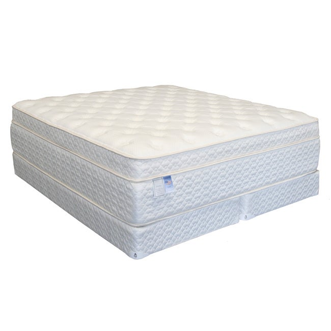 serenity euro memory 18 inch california king size mattress set 12941821