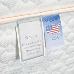 Serenity Euro-Memory 18-inch King-size Mattress Set
