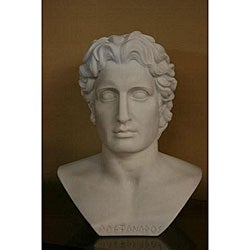 White Bonded Marble Alexander the Great Head Statue