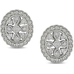Miadora Sterling Silver 1/3ct TDW Diamond Earrings (H-I, I3)