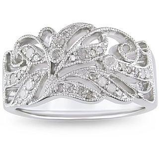 Sterling Silver 1/5ct TDW Diamond Ring (H-I, I3)