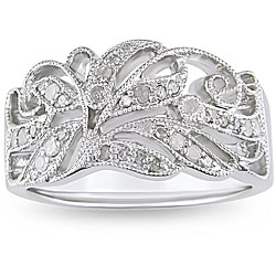 Miadora Sterling Silver 1/5ct TDW Diamond Ring (H-I, I3)