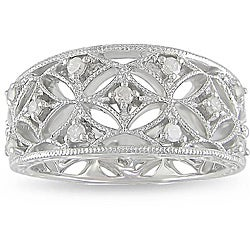M by Miadora Sterling Silver 1/4ct TDW Diamond Ring (H-I, I3)