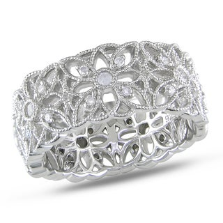 M by Miadora Sterling Silver 1/3ct TDW Diamond Ring (H-I, I3)