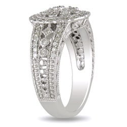 M by Miadora Sterling Silver 1/3ct TDW Round-cut Diamond Ring (H-I, I3)