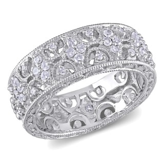 M by Miadora Sterling Silver 1/3ct TDW Prong-set Diamond Ring (H-I, I3)