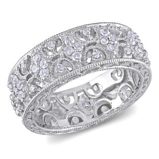 Miadora Sterling Silver 1/3ct TDW Prong-set Diamond Ring (H-I, I3)