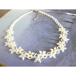 Stainless Steel Delicate Flower Crystal Necklace (USA)