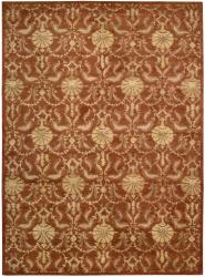Nourison Hand Tufted Beaufort Rust Wool Rug (3'6 x 5'6)