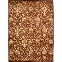 Nourison Hand Tufted Beaufort Rust Wool Rug (7'6 x 9'6)