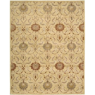Nourison Hand Tufted Beaufort Gold Wool Rug (8' x 11')