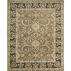 Nourison Hand Tufted Beaufort Cocoa Wool Rug (7'6 x 9'6)