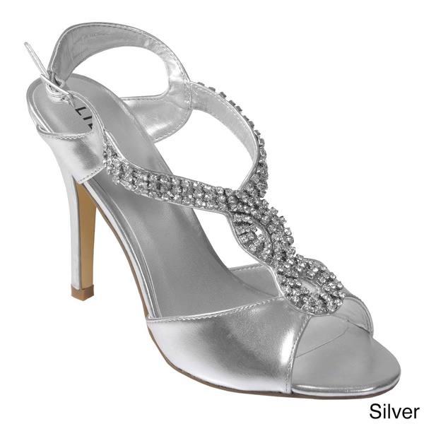 Adi Designs Women's Rhinestone Detail Heels