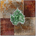Nicole Dietz 'Rusty Leaf II' Canvas Art