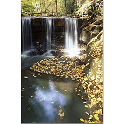 Kurt Shaffer 'Autumn Falls' Gallery-wrapped Canvas Art