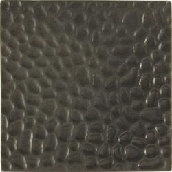 Hammered Dark Bronze 4-inch Accent Tiles (Set of 4)