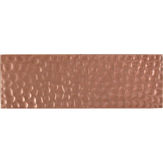 Hammered Red Copper Accent Tiles (Set of 4)