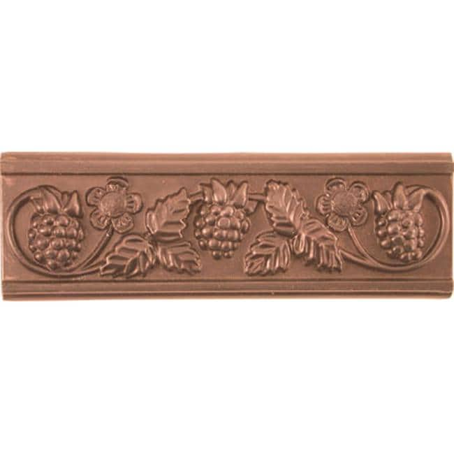 Grapevine Red Copper Accent Tiles (Set of 4)