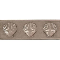 Shell Pewter Accent Tiles (Set of 4)