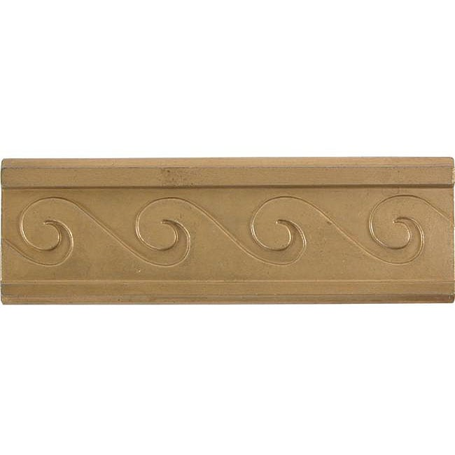 Wave Antique Brass 4-inch Accent Tiles (Set of 4)