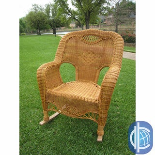 International Caravan Resin Wicker Indoor/Outdoor Rocker