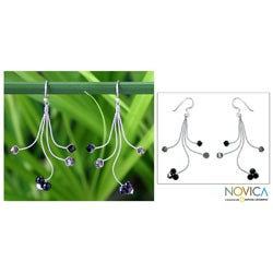 Sterling Silver Quartz 'Springtime' Earrings (Thailand)