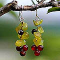 Tiger's Eye and Carnelian 'Breezy' Cluster Earrings (Thailand)