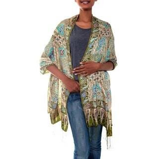 Silk 'Lavish Java' Batik Shawl (Indonesia)