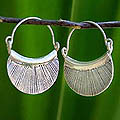 Silver 'Diva' Hoop Earrings (Thailand)