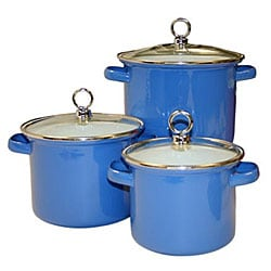 Reston Lloyd Calypso Basics 3-piece Azure Stock Pots