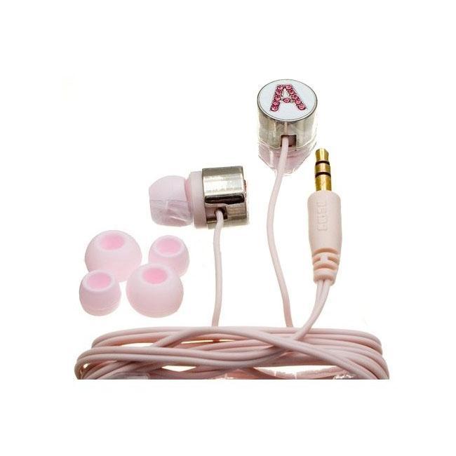 Nemo Digital Pink Crystal 'A' Earbud Headphones