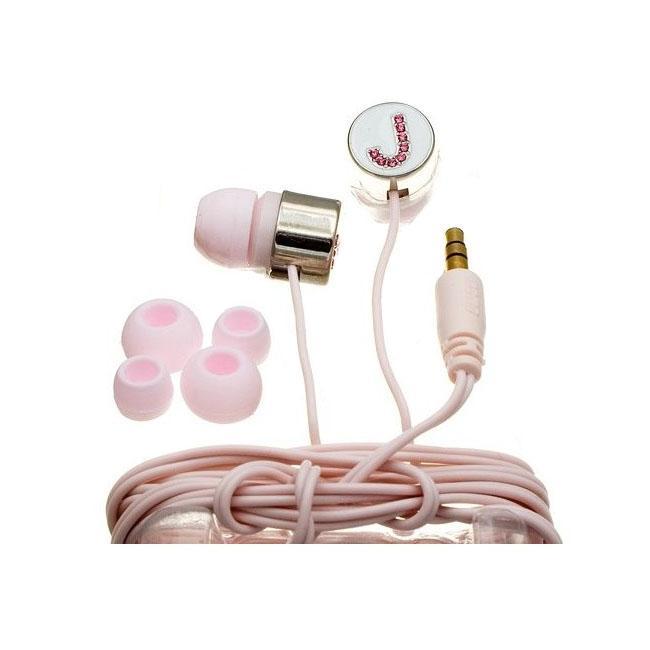 Nemo Digital Pink Crystal 'J' Earbud Headphones