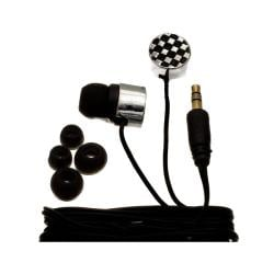 Nemo Digital Black/ White Checkerboard Earbud Headphones
