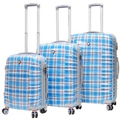 CalPak Impulse Plaid Lightweight Hard-side 3-piece Luggage Set