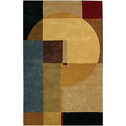 Hand-Tufted Mandara Multicolor Contemporary Wool Rug (7'9 x 10'6)