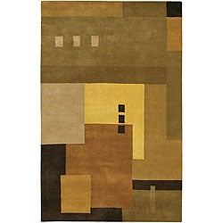 Hand-tufted Mandara Multicolored Wool Rug (9' x 13')