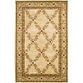 Hand-Tufted Oriental Mandara Ivory Wool Rug (7'9 x 10'6)
