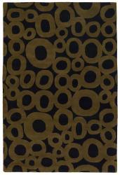 Hand-tufted 'Mandara' Black Wool Rug (5' x 7'6)