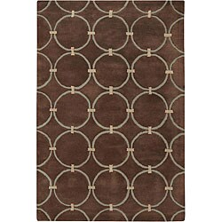 Hand-tufted 'Estella' Brown Wool Rug (7'9 x 10'6)