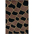 Hand-tufted 'Mandara' Black Wool Rug (7'9 x 10'6)