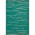 Hand-Tufted Mandara Green/White Wool Rug (7'9 x 10'6)