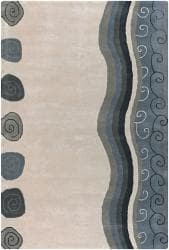 Hand-tufted Mandara Ivory Wool Rug (5' x 7'6)