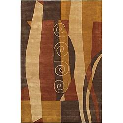 Hand-tufted Mandara Multicolor Wool Rug (5' x 7'6)